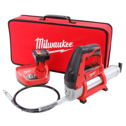 Milwaukee 2446-21XC M12 Grease Gun Kit w/Ah Battery Charger & Soft Case