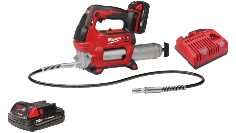 Milwaukee 2646-21CT M18 Cordless 2-Speed Grease Gun Kit w/ Extra 2.0 Battery