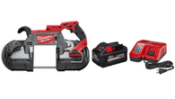 Milwaukee 2729-20 M18 FUEL Deep Cut Band Saw w/8.0Ah HIGH OUTPUT Starter Kit