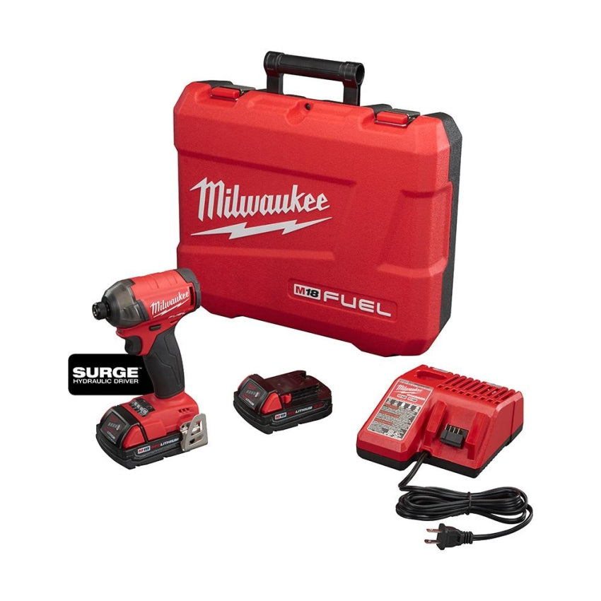 "Milwaukee 2760-22CT M18 FUEL SURGE 1/4"" Hex Hydraulic Driver Kit"