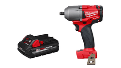 "Milwaukee 2852-20 M18 FUEL 3/8"" Mid Impact Wrench w/Friction Ring & 48-11-1835"