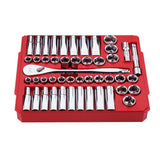 "Milwaukee 48-22-9010 1/2"" Drive 47 Piece Ratchet and Socket Set - SAE & Metric"