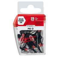 "Milwaukee 48-32-4604 #2 Phillips SHOCKWAVE 1"" Insert Bit Contractor Pack 25pk"