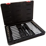 "Sunex 9147 3/8"" Drive SAE/MM Socket Set - 47 Piece"