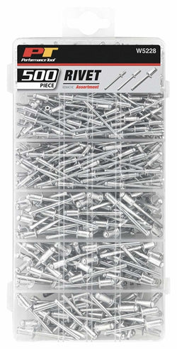 Performance Tool W5228 500 Piece Aluminum Rivet Hardware Kit