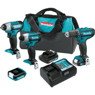Makita 12V Max CXT™ Lithium-Ion Cordless 4 Pc. Combo Kit (1.5Ah) CT410