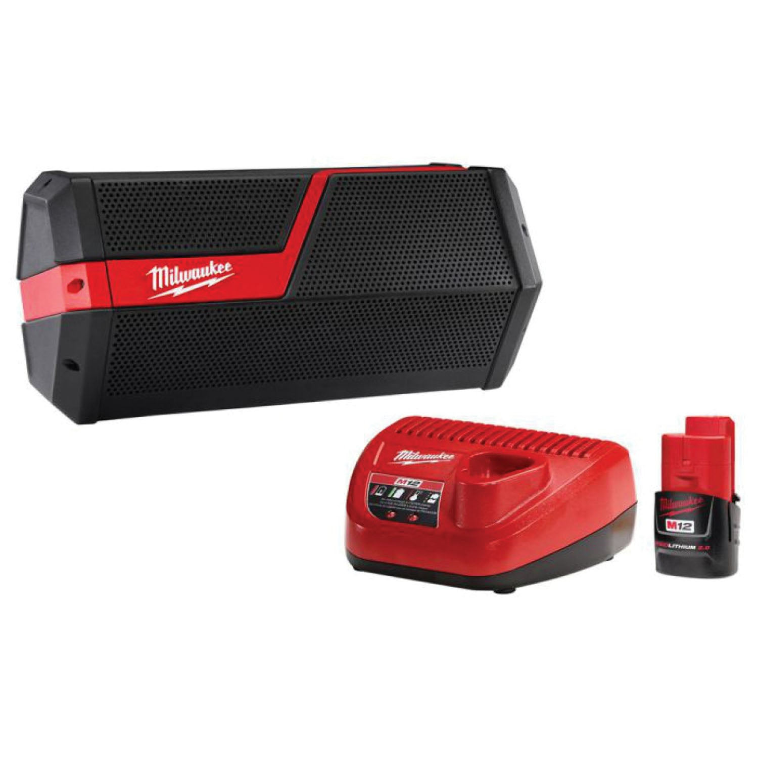 Milwaukee 2891-21P M18/M12 Wireless Jobsite Speaker Battery and Charger