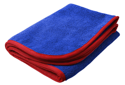 SM Arnold 16x24 Large Super Plush Microfiber Towels Blue/Red 380GSM 28-862