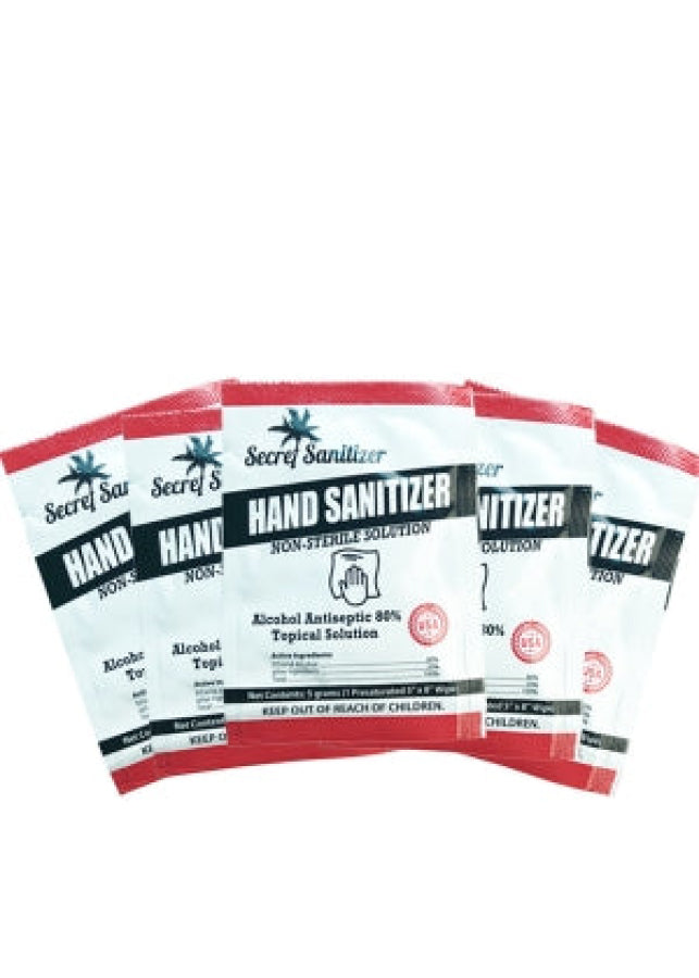 Secret Sanitizing 80% Alchohol Hand Wipes (50 pack)