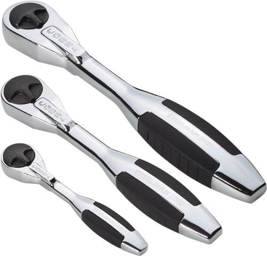 "Steelman 3 Piece 160 Tooth Cobra Ratchet Set (1/4"", 3/8"", 1/2"") 98860"