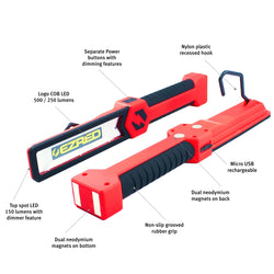 EZRed Rechargeable Xtreme Logo Work Light Green Red Blue Orange XL5500