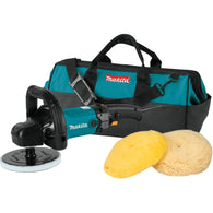 "Makita 9237CX3 7"" Electric Polisher Sander 21"" Bag & 2 Pads 10 Amp"
