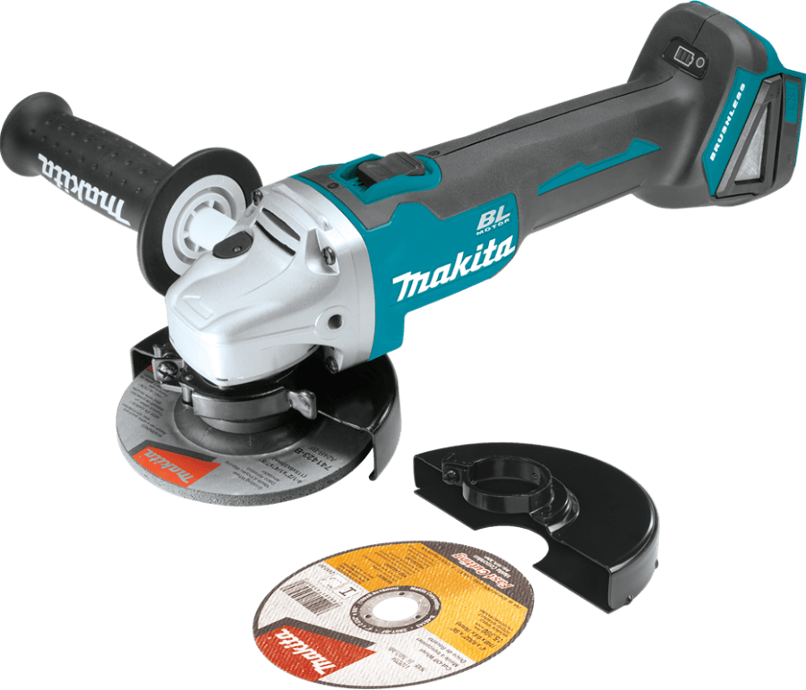 "Makita 18V LXT Brushless 4‑1/2"" Cut‑Off/Angle Grinder, Tool Only XAG03Z"