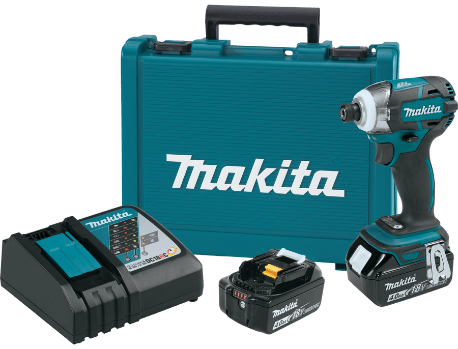 Makita 18V LXT Quick-shift 3-Speed Impact Driver Kit w/4Ah Battery XDT09MB