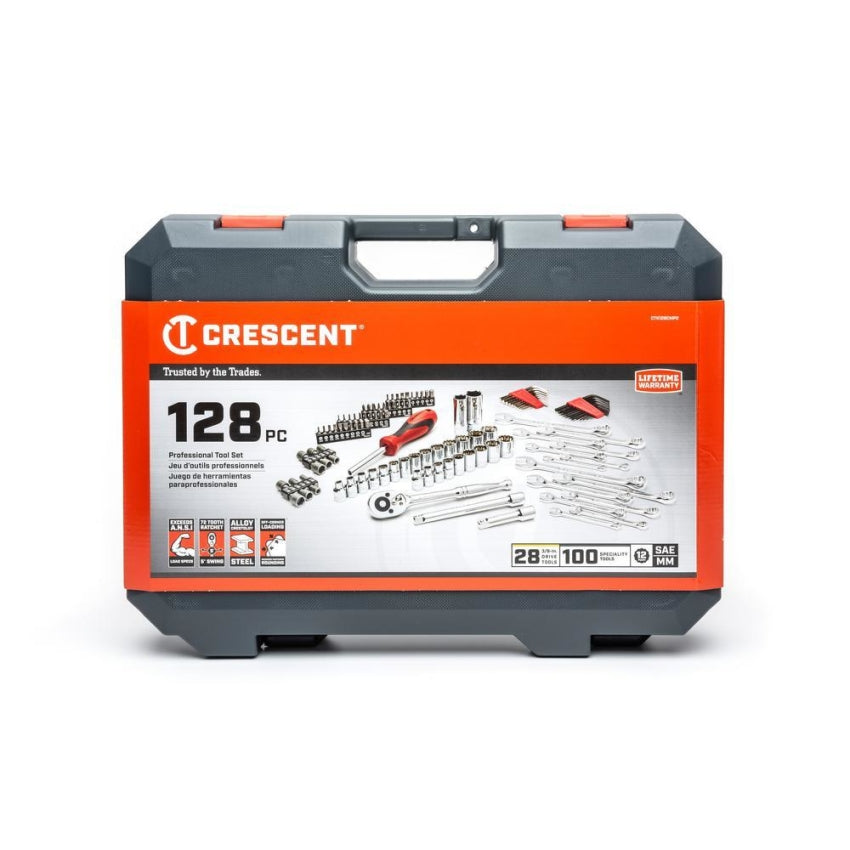 Crescent CTK128CMP2 3/8 in. Drive Mechanics Tool Set (128-Piece)