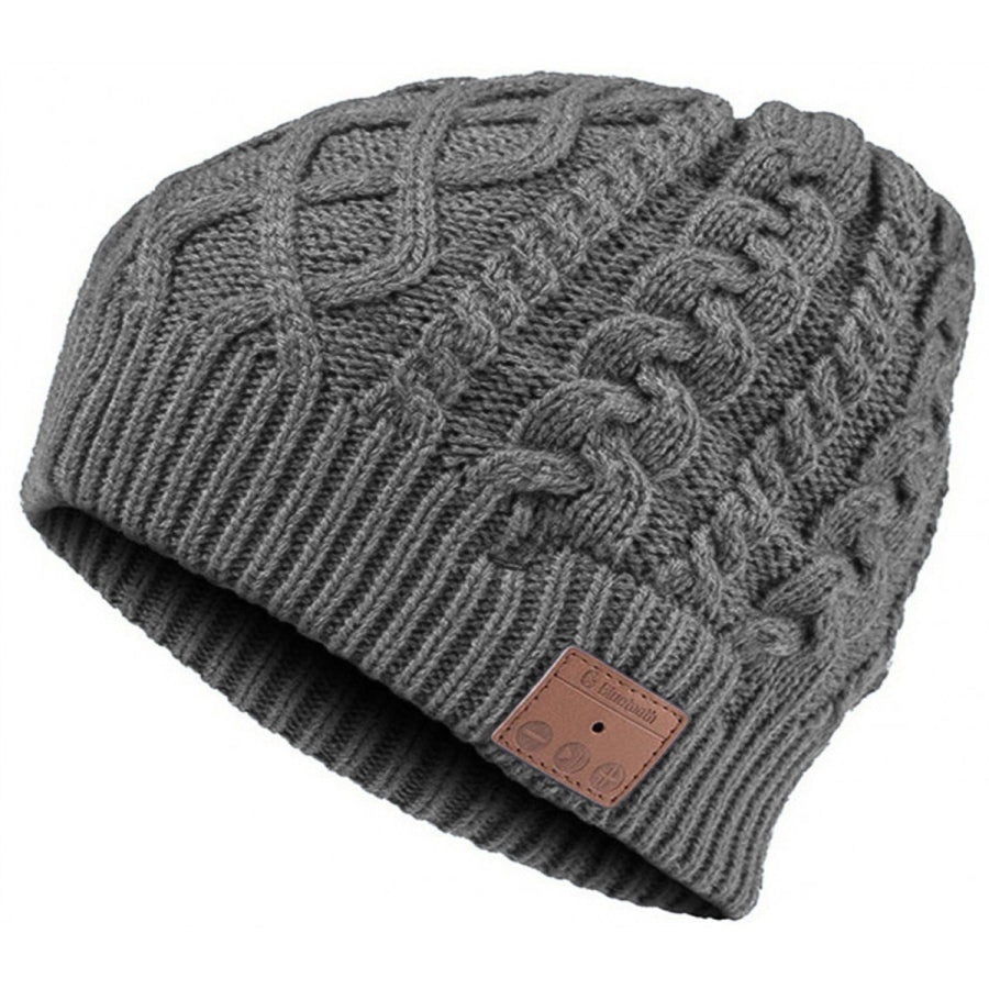 Mountain Bluetooth Cable Knit Beanie Grey VG002DG