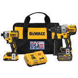 DeWalt 20V MAX Hammer Drill/Impact Driver 2 Tool Kit with FLEXVOLT Battery & Charger DCK299D1T1