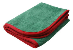 SM Arnold 28-863 Green/Red Large Super Plush Microfiber Towels 380GSM