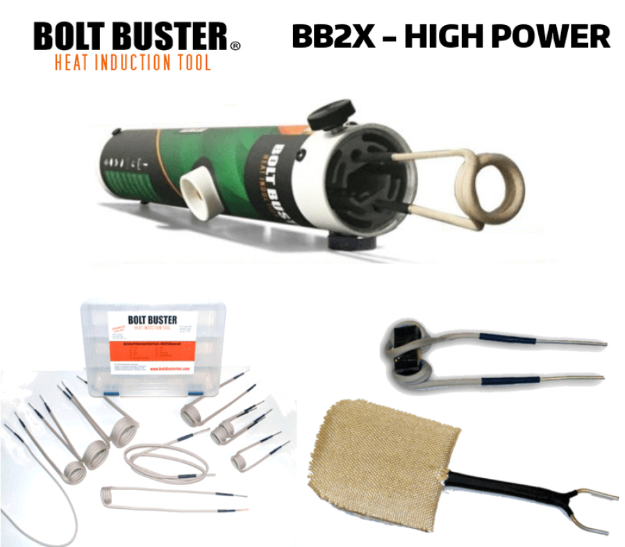 Bolt Buster Heat Induction Tool 1,800 Watts BB2X-ACC With Mag Guide & Thermal Pad