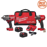 "Milwaukee 2988-22 M18 Fuel Gen2 3/8"" Mid Torque & 1/2"" High Torque Impact Kit"