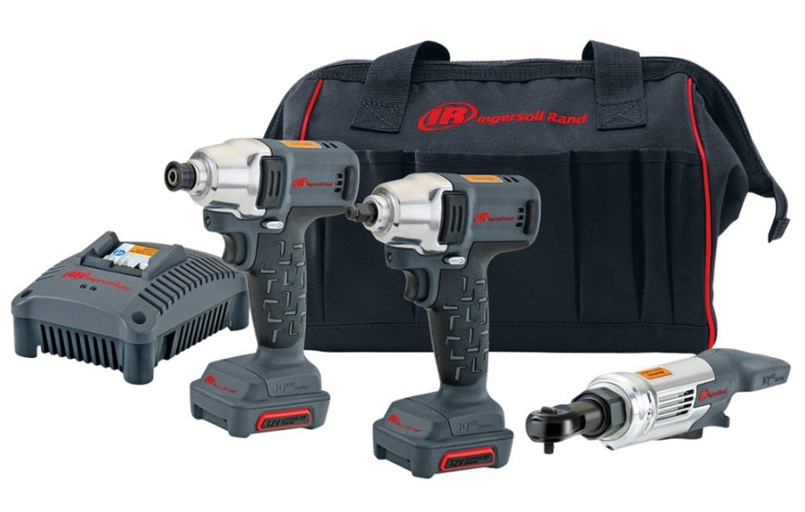 Ingersoll Rand W1130 Impact, W1110 Impact Driver & R1120 Ratchet Combo Kit IQV12-302