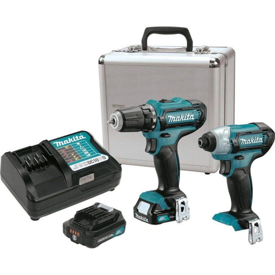 Makita 12V MAX CXT Impact Driver & Drill Combo Kit w/(2) 2ah Batteries, Charger & Case CT226RX