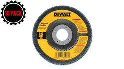 "DeWalt DW8308 Type 29 4.5"" x 7/8"" 60-Grit Zirconia HP Flap Disc (10 PACK)"
