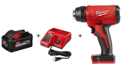 MIlwaukee M18 Compact Heat Gun 2688-20 w/Multi-Voltage Charger & 8.0 Battery