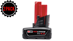 Milwaukee 2 x 48-11-2440 M12 REDLITHIUM XC4.0 Extended Capacity Battery Pack