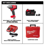 "Milwaukee 2861-22 M18 FUEL 1/2"" Mid-Torque Impact w/Friction Ring Kit"