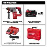 "Milwaukee 2715-22 M18 FUEL 1-1/8"" SDS+ Rotary Hammer Kit w/(2) 5Ah Batteries"