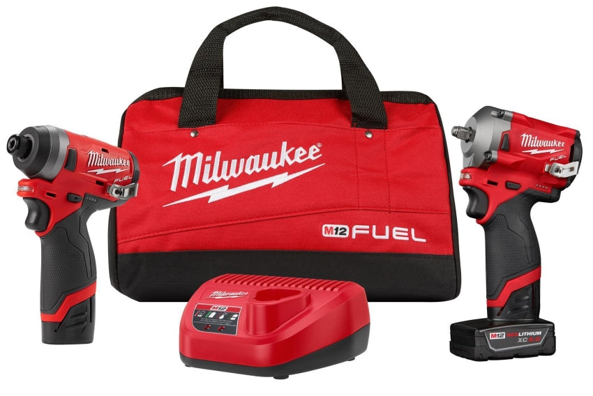 Milwaukee 2599-22 M12 FUEL 2PC 3/8IN & 1/4IN Hex Stubby Auto Kit