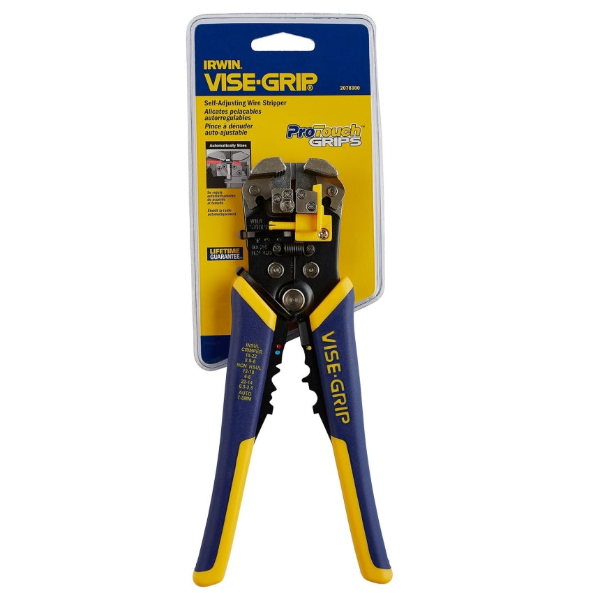 "Irwin Vise-Grip 2078300 8"" Self-Adjusting Wire Stripper"