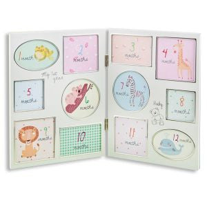 Babys First Year Hinged Frame Hello Baby Gift Boutique