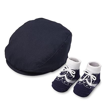 Infant Boys Cabbie Hat and Socks – Hello Baby Gift Boutique 74193ac41fd