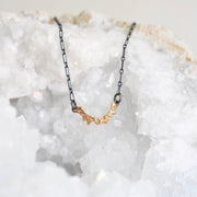 Mixed Metal Arch Necklace