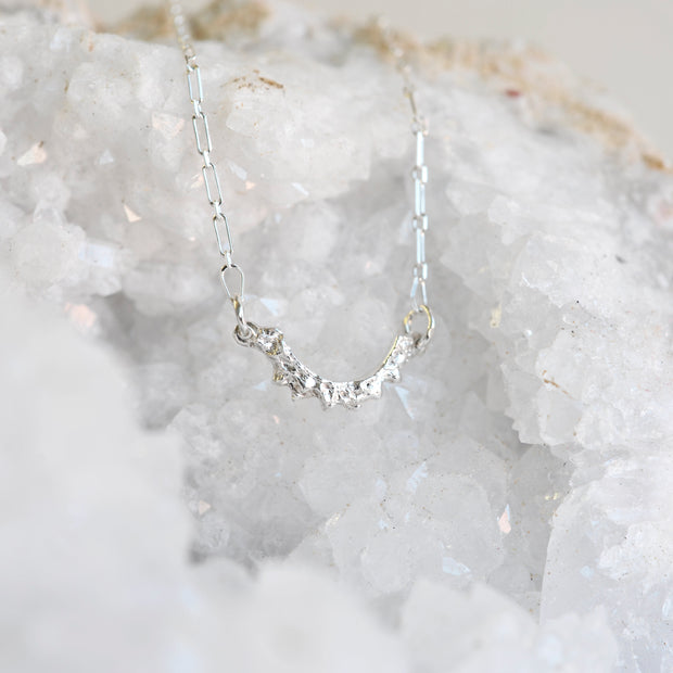 Stacking Arch Necklace - Silver