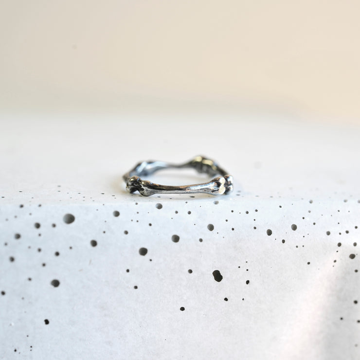 Bones Ring - Oxidized Sterling Silver