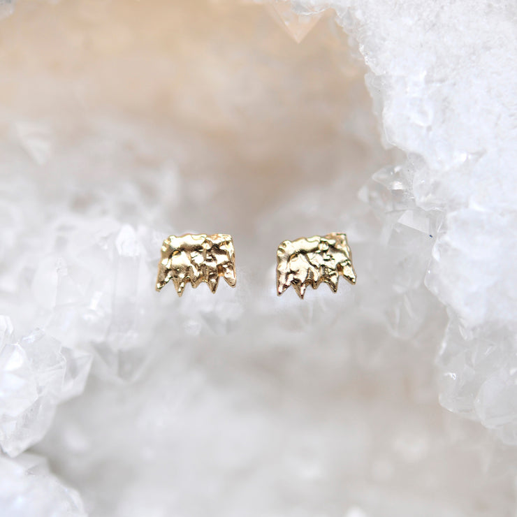 Jagged Studs - Gold