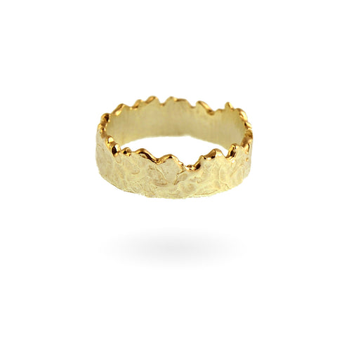 Wide Coastline Band - 14k Gold