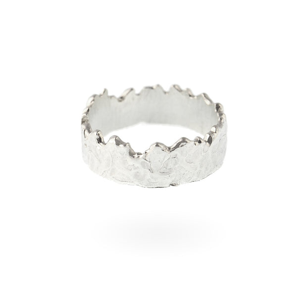 Wide Coastline Ring - Silver