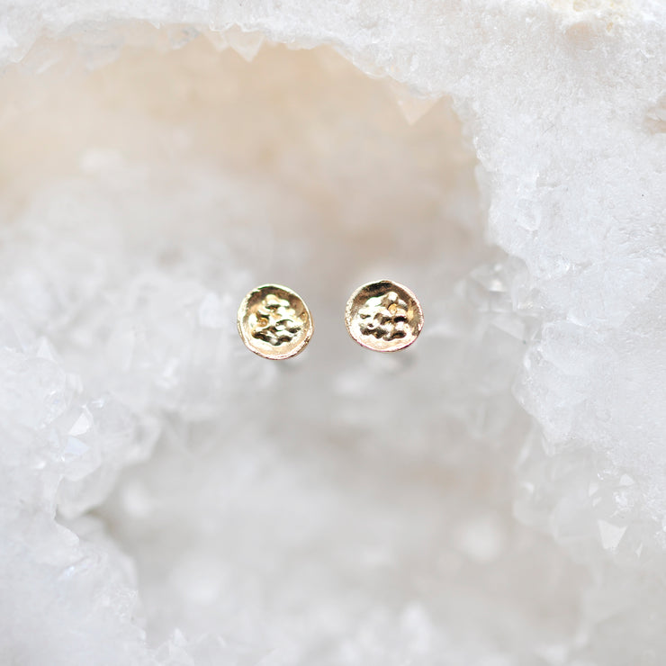 Moon Dust Studs - Gold
