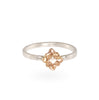 Diamond Rose Gold Mixed Metal Ring
