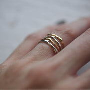 Gold Branch Ring