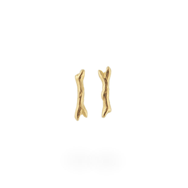 Mini Branch Studs - Gold
