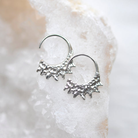 Mini Hoop Earrings - Sterling Silver