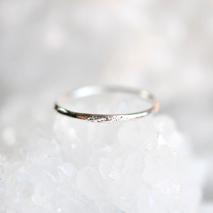 Moon Dust Ring - Silver