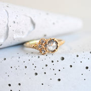 Gold Pear-Shaped Grey Diamond