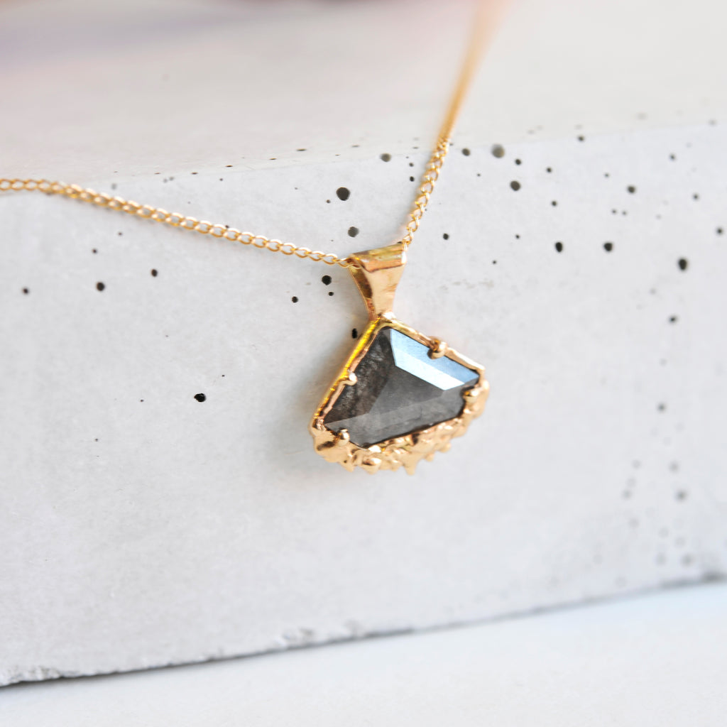 Shield Diamond Necklace