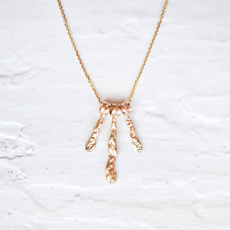 Small Waterfall Necklace - Gold